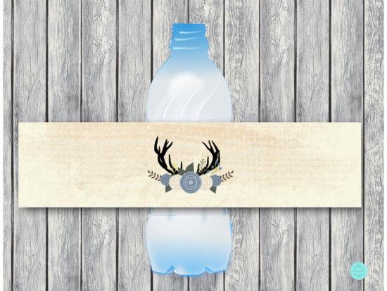 tlc21-water-bottle-label-blue-boy-deer-baby-shower