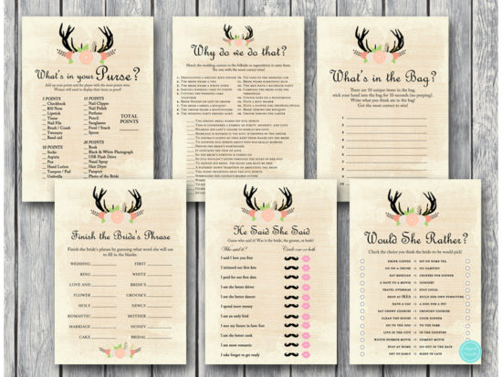 antler-bridal-shower-games-rustic-deer