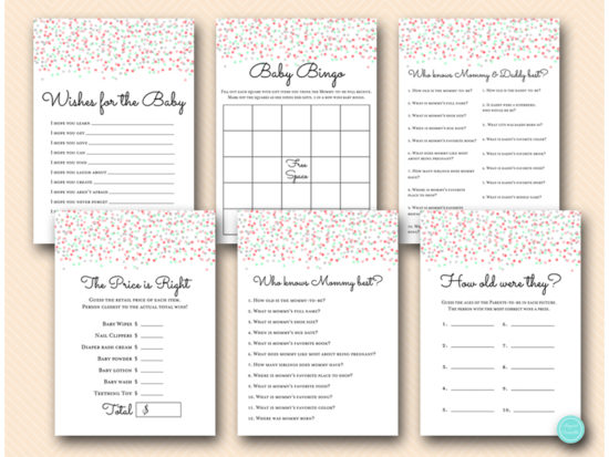 coral-mint-grey-baby-shower-game-package-instant-download
