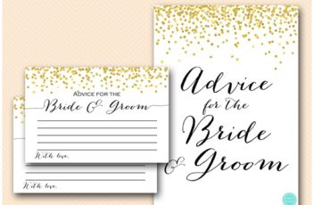advice-for-the-bride-and-groom-gold-bridal-shower-cards