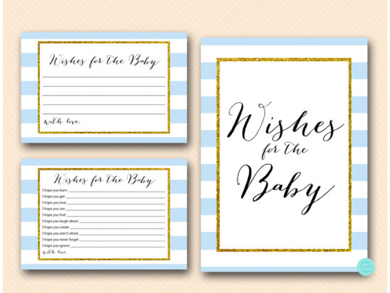 baby-blue-stripes-baby-shower-games-wishes-for-the-baby-card-and-sign