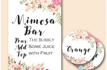 image about Mimosa Bar Sign Printable Free called BS546 Printabell Specific
