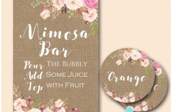 burlap-boho-mimosa-bar-with-juice-sign
