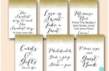 gold-glitter-bridal-shower-signs-gold-bachelorette-party-decor5