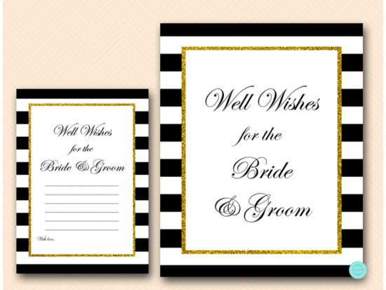bs442-well-wishes-sign-card-black-and-gold-couples-shower-activities
