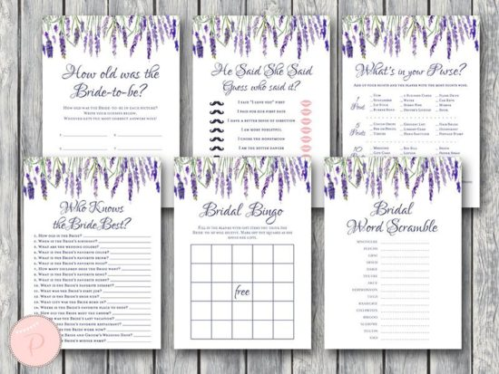 lavender-bridal-shower-games-package