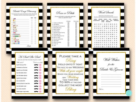 black-stripes-and-gold-glitter-bridal-shower-bachelorette-games
