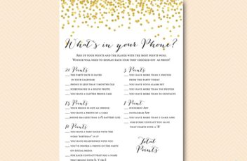 bp46-whats-in-your-phone-birthday-gold-glitter-birthday-game