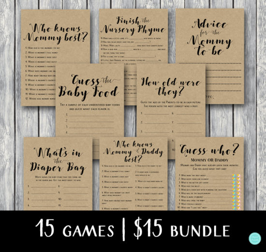 rustic-baby-shower-game-bundle-instant-download-kraft-paper-background