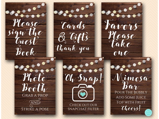 rustic-night-lights-baby-shower-table-signs