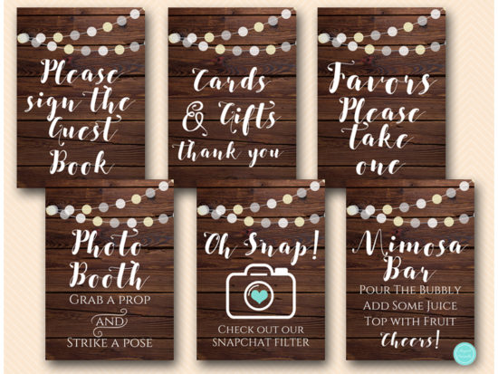rustic-night-lights-bridal-baby-shower-table-signs