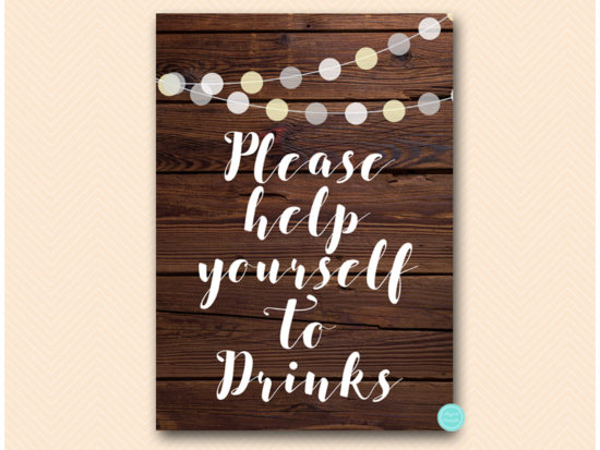 sn598-sign-drinks-help-yourself-rustic-night-lights-wooden-background