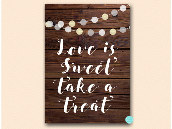 sn598-sign-love-is-sweet-take-treat-rustic-night-lights-wooden-background