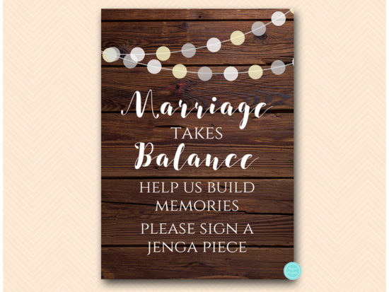 sn598-sign-marriage-takes-balance-rustic-night-lights-wooden-background