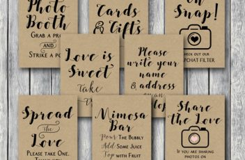 rustic-woodland-wedding-table-signs-rustic-bridal-shower-signs