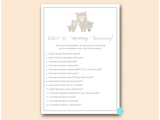 tlc603-what-is-mommy-wearing-llama-baby-shower-game