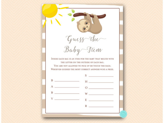 tlc604-guess-baby-item-sloth-baby-shower-game