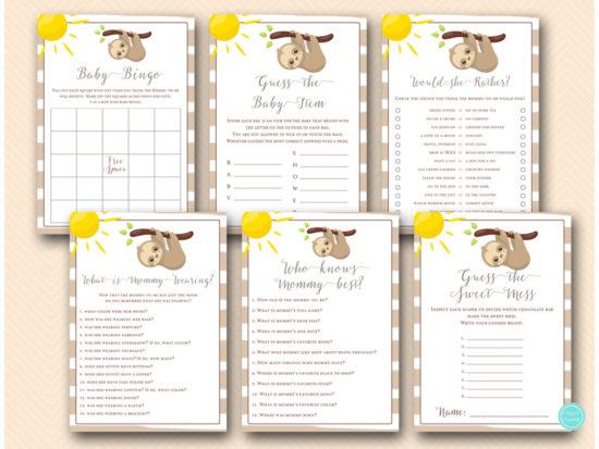 cute-sloth-baby-shower-games-bundle-printable-download