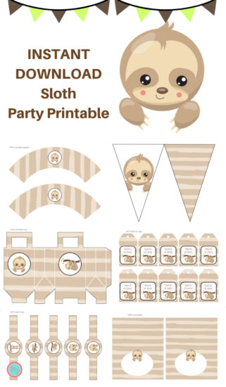 sloth-party-printable-pack