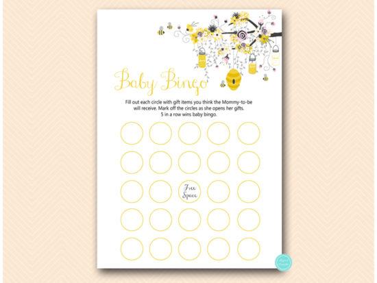 tlc185p-bingo-baby-circles-pink-girl-bee-baby-shower-game