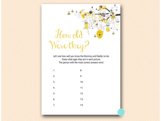 tlc185p-how-old-were-they-pink-girl-bee-baby-shower-game