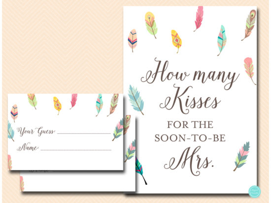 bs60-how-many-kisses-sign-tribal-bridal-shower-game