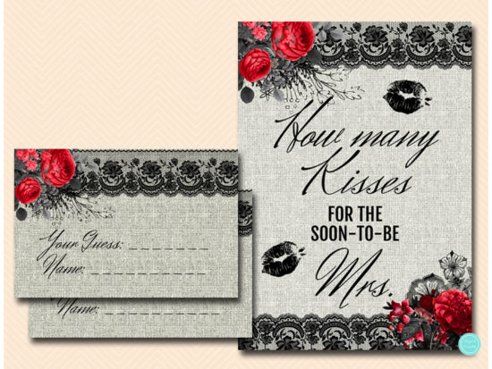 bs622-how-many-kisses-sign-gothic-bridal-shower-game