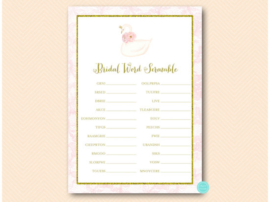 bs627-scramble-bridal-wordsg-pink-gold-swan-bridal-shower-game