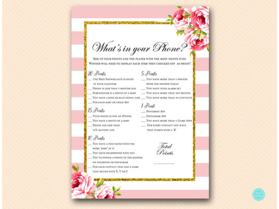 tlc50-whats-in-your-phoneb-pink-coed-shabby-chic-baby-shower-game