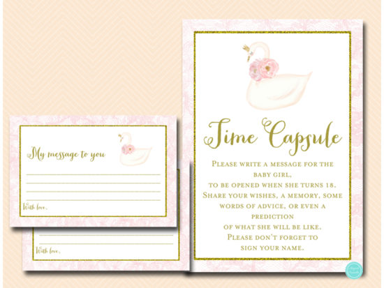 tlc627-time-capsule-sign-pink-swan-baby-shower