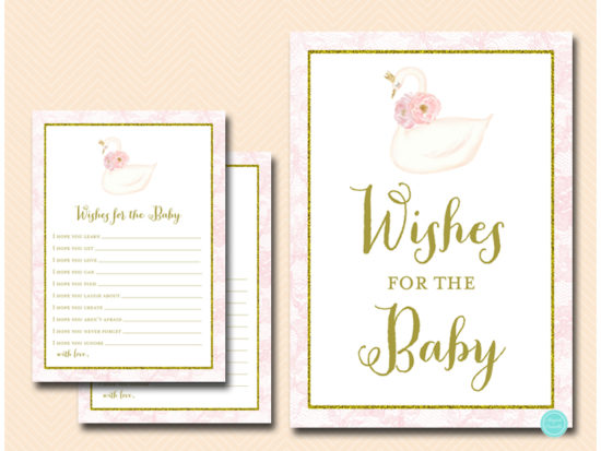 tlc627-wishes-for-baby-sign-pink-swan-baby-shower