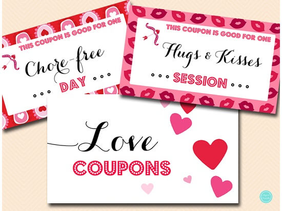 photograph relating to Printable Luv Coupons named Printable Get pleasure from Discount codes for Him or Her