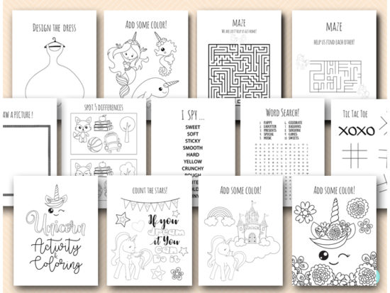 unicorn-party-activity-and-games-book-for-kids-printable-instant-download