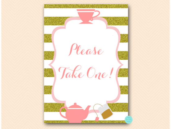 sn629-sign-please-take-one-pink-gold-tea-party-bridal-shower