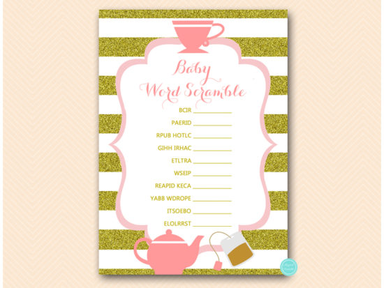 tlc629-scramble-baby-words-pink-gold-tea-party-baby-shower