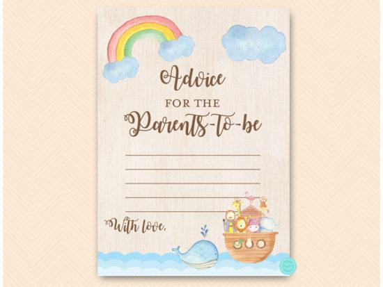 tlc631-advice-parents-card-noahs-ark-baby-shower-game