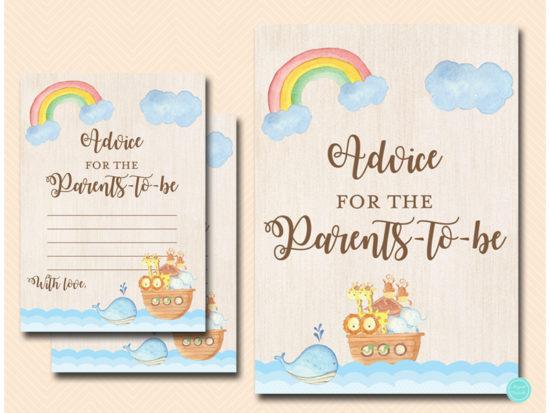 tlc631tw-advice-parents-twins-noahs-ark-baby-shower-game