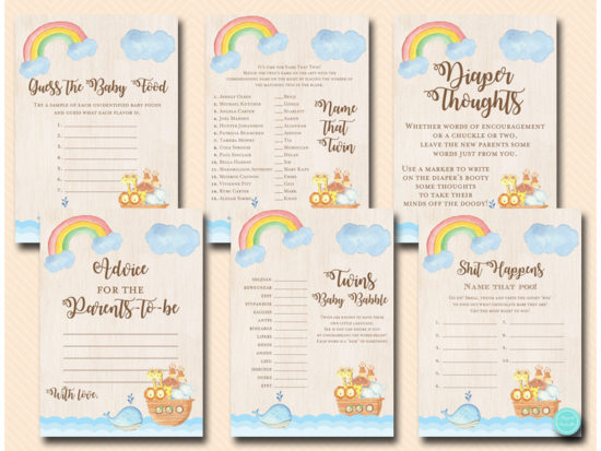 twins-noahs-ark-baby-shower-game-printable-instant-download