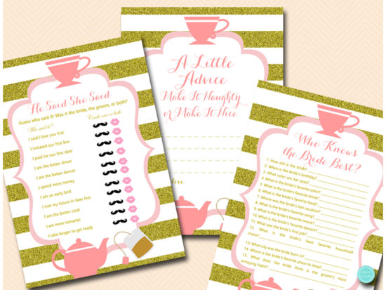 tea-party-bridal-shower-games-pink-and-gold