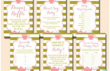 tea-party-baby-shower-games-pink-and-gold