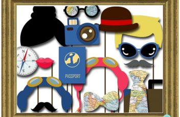 adventure-awaits-globe-map-photobooth-props-travel-wedding5