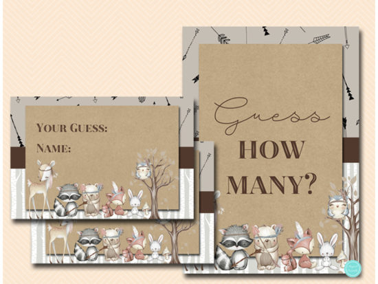 bs645-how-many-sign-boho-woodland-bridal-shower-games