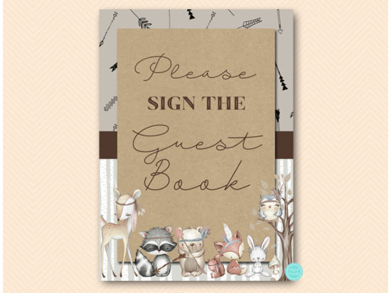 sn645-sign-guestbook-rustic-woodland-baby-shower-signs