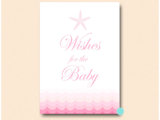 tlc09p-wishes-for-baby-sign-pink-beach-under-sea-baby-shower-games