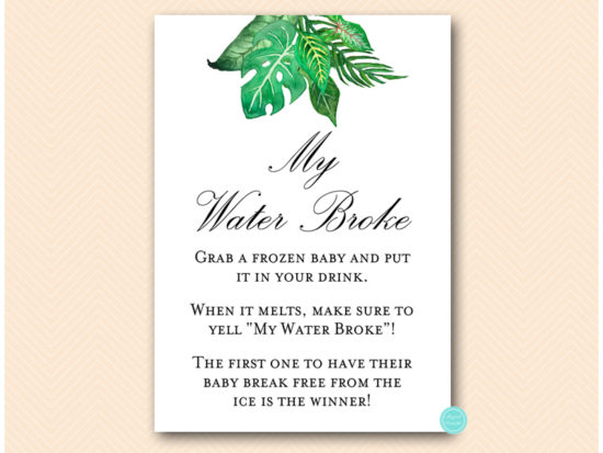 tlc641-my-water-broke-tropical-jungle-baby-shower-game
