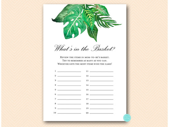 tlc641-whats-in-basket-tropical-jungle-baby-shower-game