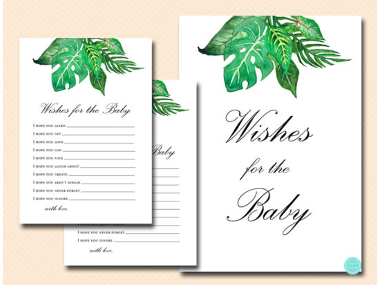 tlc641-wishes-for-baby-sign-tropical-jungle-baby-shower-game