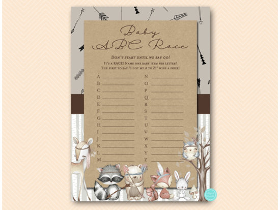 tlc645-abc-baby-item-race-rustic-woodland-baby-shower-games