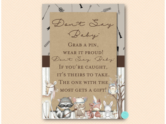 tlc645-dont-say-baby-rustic-woodland-baby-shower-games