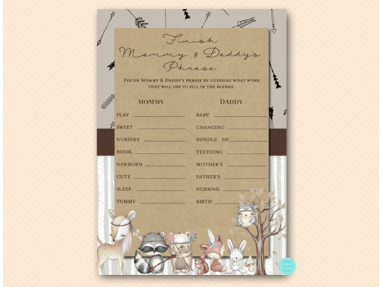tlc645-finish-daddy-mommys-phrase-rustic-woodland-baby-shower-games